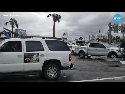 The damage and devastation of Hurricane Michael in Panama City Beach, Florida
