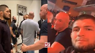 Dana White & Khabib Nurmagomedov Meeting Today Before And After, Khabib Headed Back To UFC?