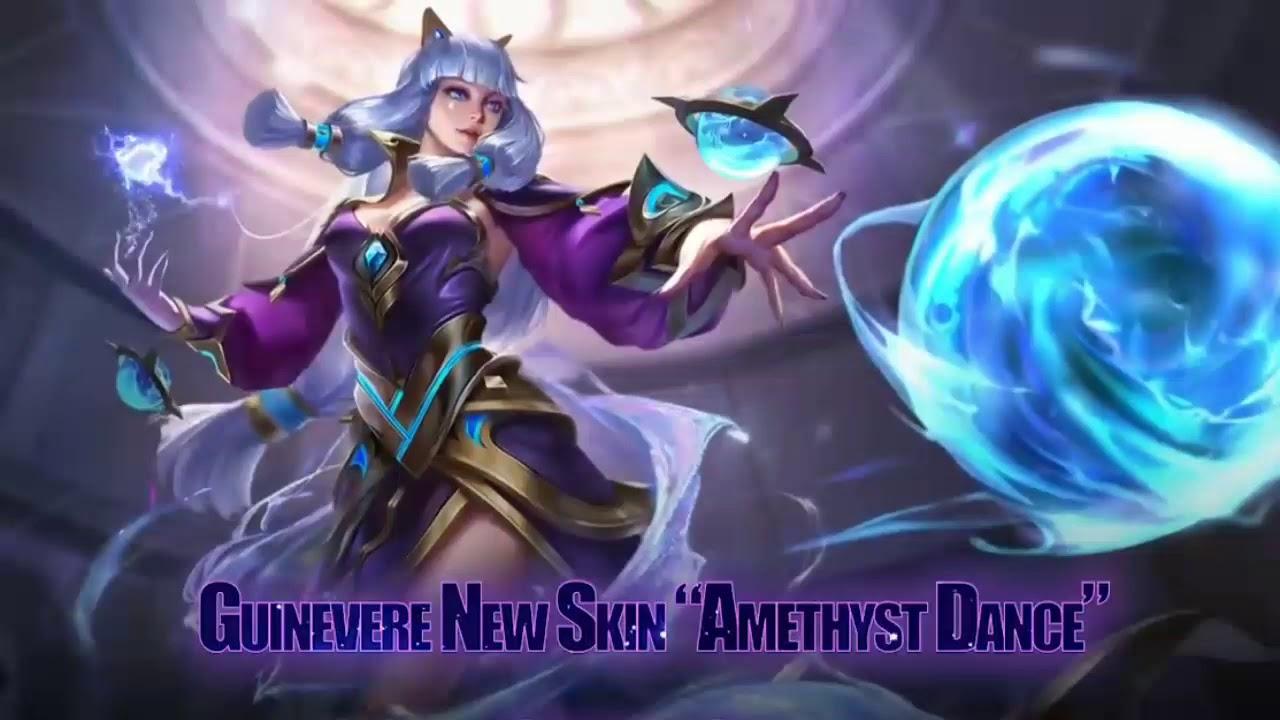 Guinevere Amethyst Dance Skin Mobile Legends Moving Wallpaper Mobile Legends Live Wallpaper Youtube