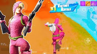 NEW KING FLAMINGO Skin Gameplay in Fortnite Mobile