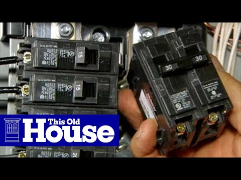 House Fuse Panel Diagram Pontiac Montana Radio Wiring How To Upgrade An Electrical 200-amp Service - This Old Youtube