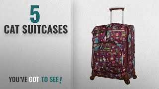Top 10 Cat Suitcases [2018]: Lily Bloom Luggage Carry On Expandable Design Pattern Suitcase For