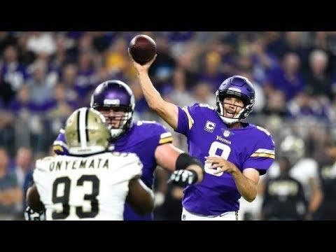 Sam Bradford vs Saints (MNF Week 1) - 346 Yards + 3 TDs!   2017-18 NFL Highlights HD