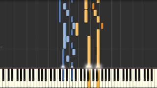 Fugue No. 4 (C sharp minor) J. S. Bach [BWV 849] - Synthesia piano tutorial