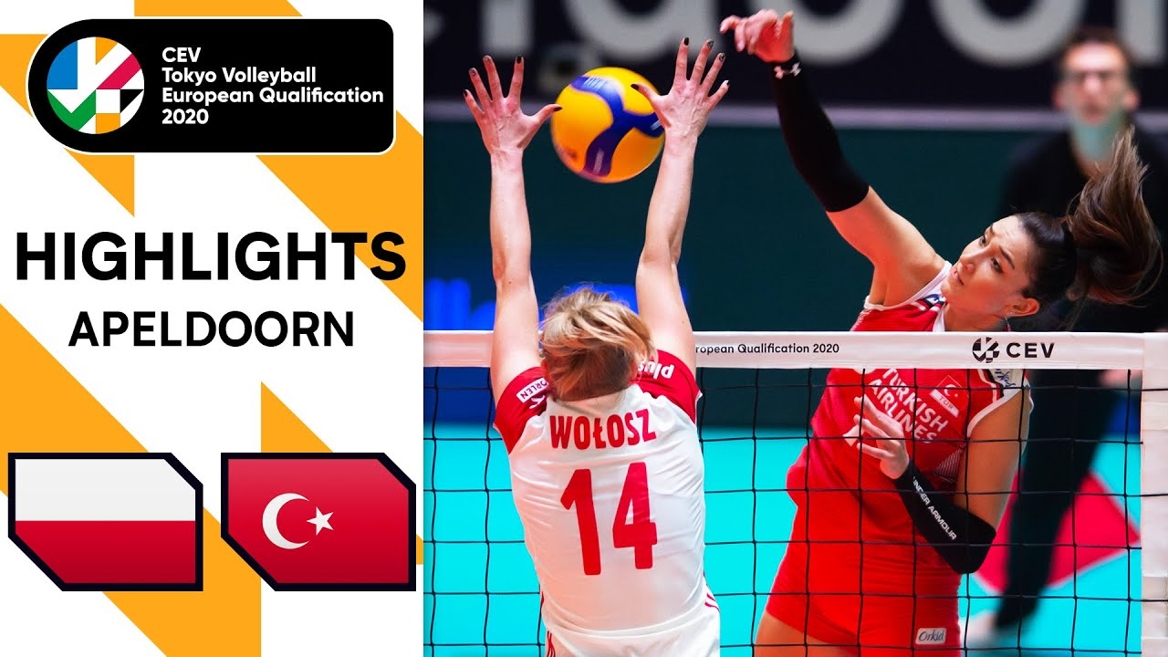 Poland vs. Turkey - Highlights | CEV Women's Tokyo Volleyball Qualification 2020