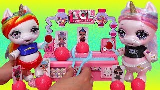 Baby Unicorns Play Board Game ! Toys and Dolls Fun for Kids Opening Blind Bags & Slime | SWTAD