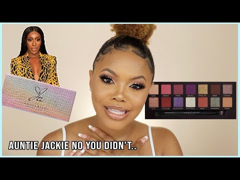 FINALLY AUNTIE!!😭 Jackie Aina x ABH Palette First Impression | Naturally Sunny thumbnail