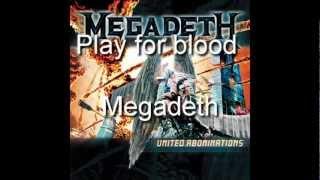 Megadeth - Play for blood (subtitulado al español)