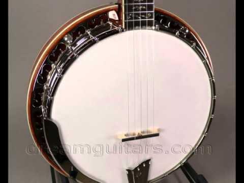 New Ome Professional Sweetgrass Banjo Curly Maple Resonator 5 String at  Dream Guitars