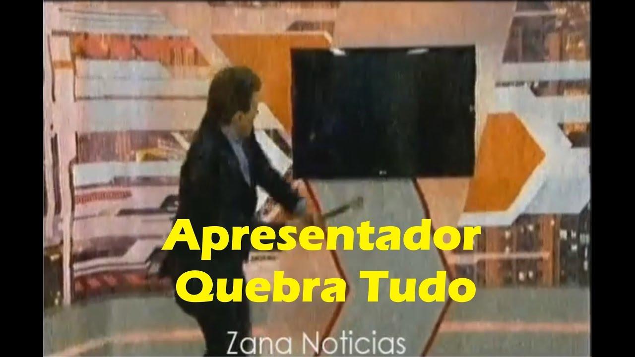 Apresentador Paulo Gomes perde a paciência e quebra cenário ao vivo