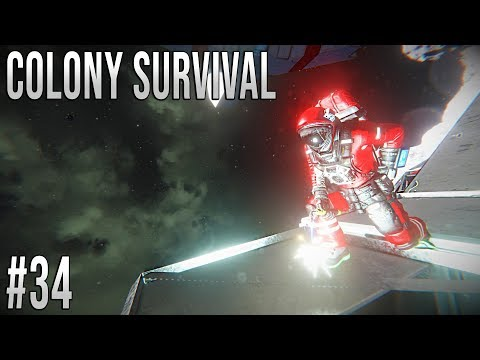 Space Engineers - Colony Survival Ep #34 - Starting the Space Base!