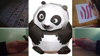 PAPERCRAFT #9 - Baby Po - KUNG FU PANDA (Stop Motion)
