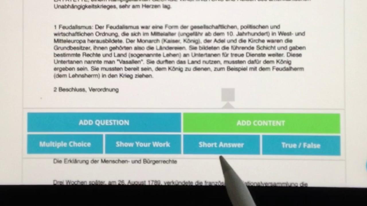 Arbeitsblätter digitalisieren und mit Fragen, Grafiken und Videos ...