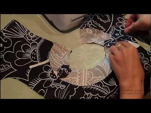 Обтачка горловины платья видео
