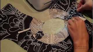 видео Выкройка платья с длинными рукавами и обтачкой горловины