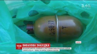 Вибухонебезпечний мотлох  у Харкові у сміттєвому баку виявили бойову гранату