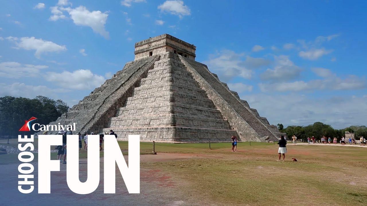 Chichen Itza Mayan Ruins In Cozumel Mexico Carnival