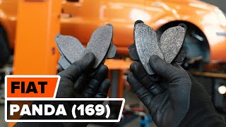 How to replace Brake pad set FIAT PANDA (169) Tutorial