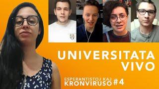 Universitata vivo – Esperantistoj kaj kronviruso – Epizodo 4