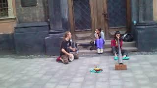 �������� ���� 14 Раста на площе рынок Львов  регги танцы ������