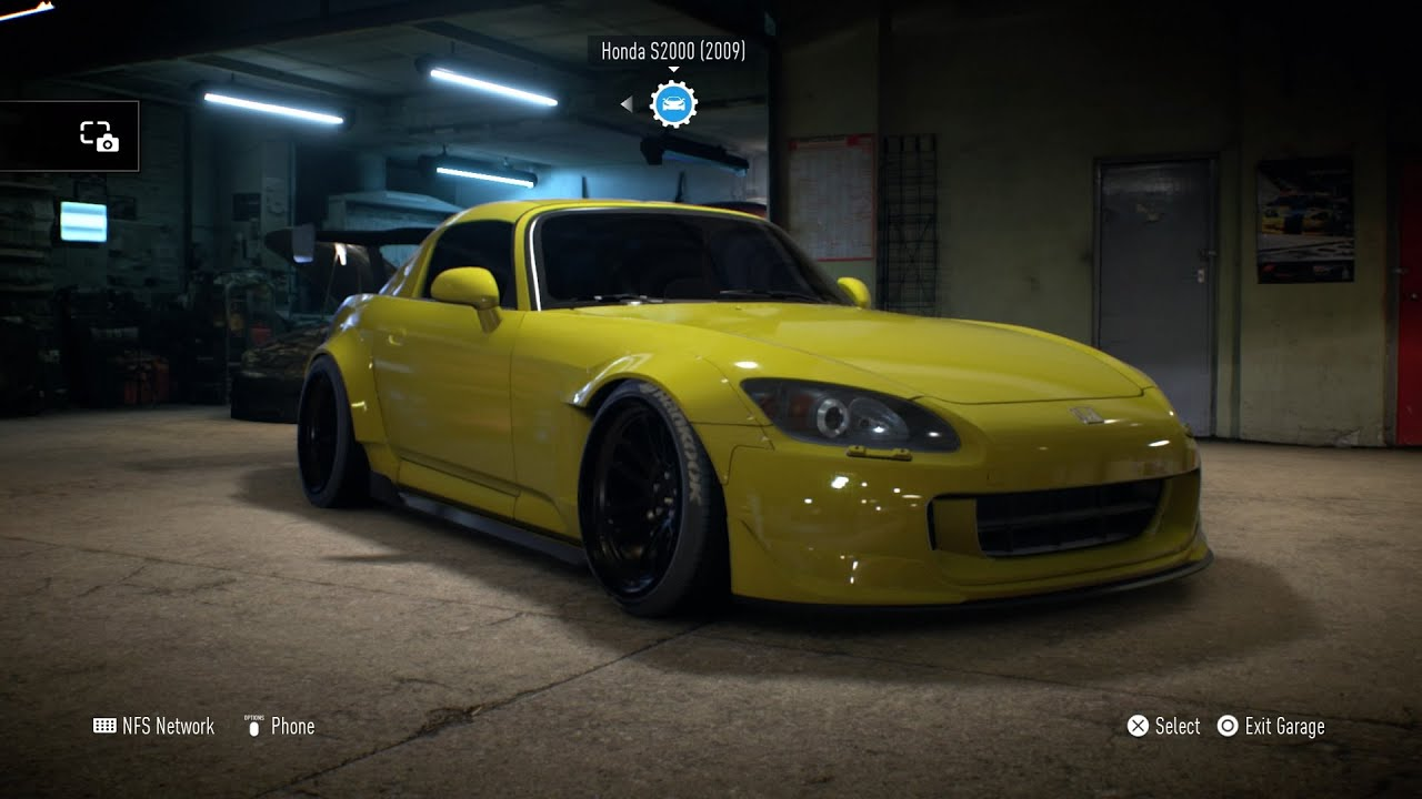 Need For Speed 2015 Honda S2000 Build THAT WING THO