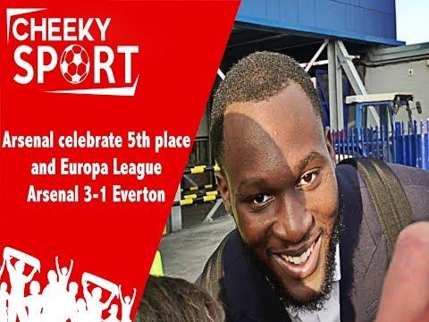 Ozil Told To Go To Man Utd | Arsenal Players Celebrate 5th and Europa League | Arsenal 3-1 Everton