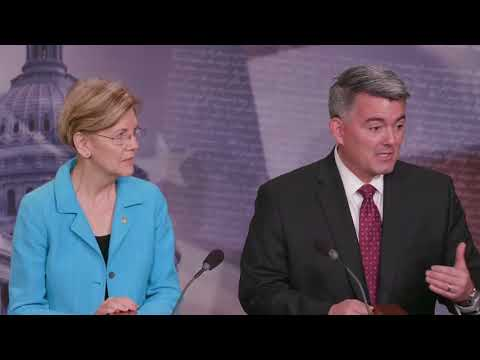 Elizabeth Warren and Cory Gardner introduce bipartisan legislation on marijuana