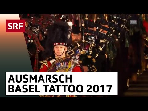 Finale - Ausmarsch - Basel Tattoo 2017 vom 16.9.2017