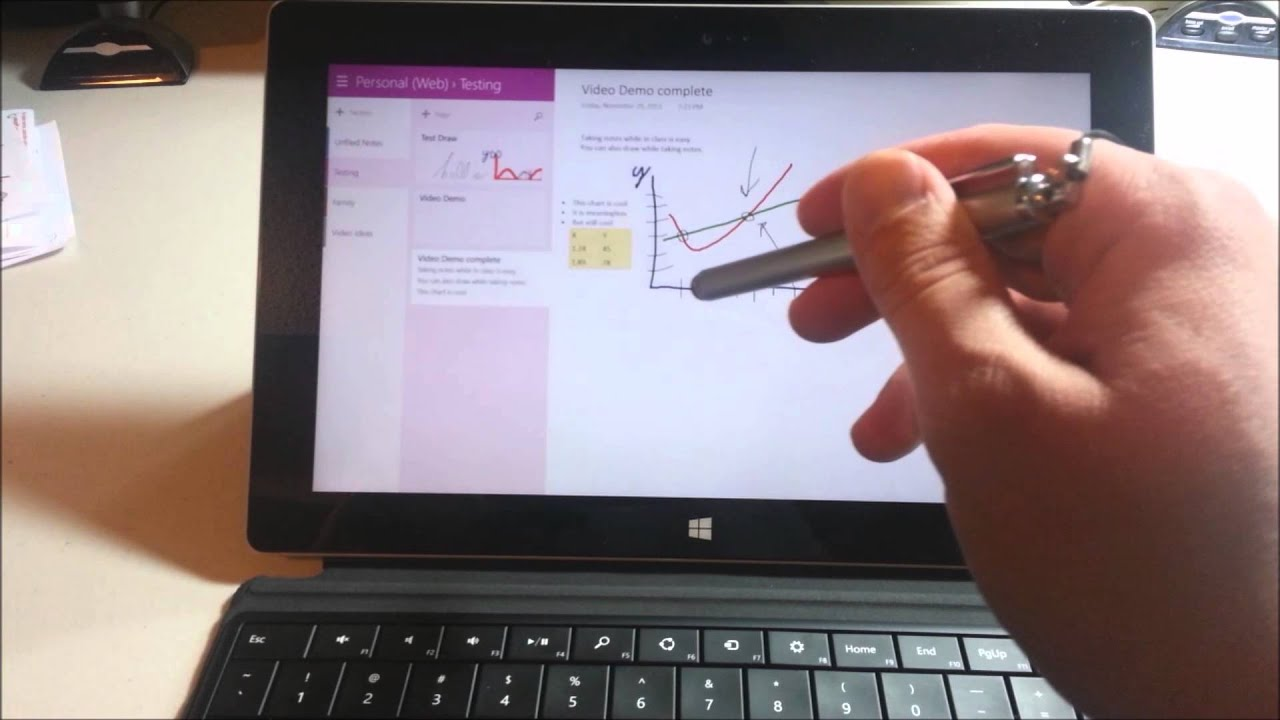 Microsoft surface quick tip onenote and stylus youtube