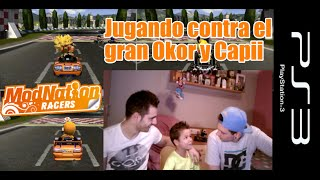 Jugando contra el gran Okor y Capii | ModNation Racers ps3: Gameplay Español