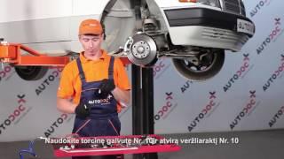 Montavimo Stabilizatoriaus įvorė MERCEDES-BENZ 190 (W201): nemokamas video