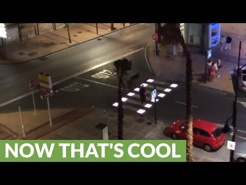 Innovative Pedestrian Crosswalk In Spain Lights Up For Safety