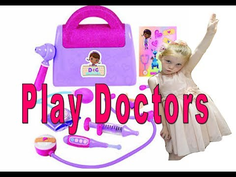 kids playing doctors and nurses hairdresser with daddy natural playtime