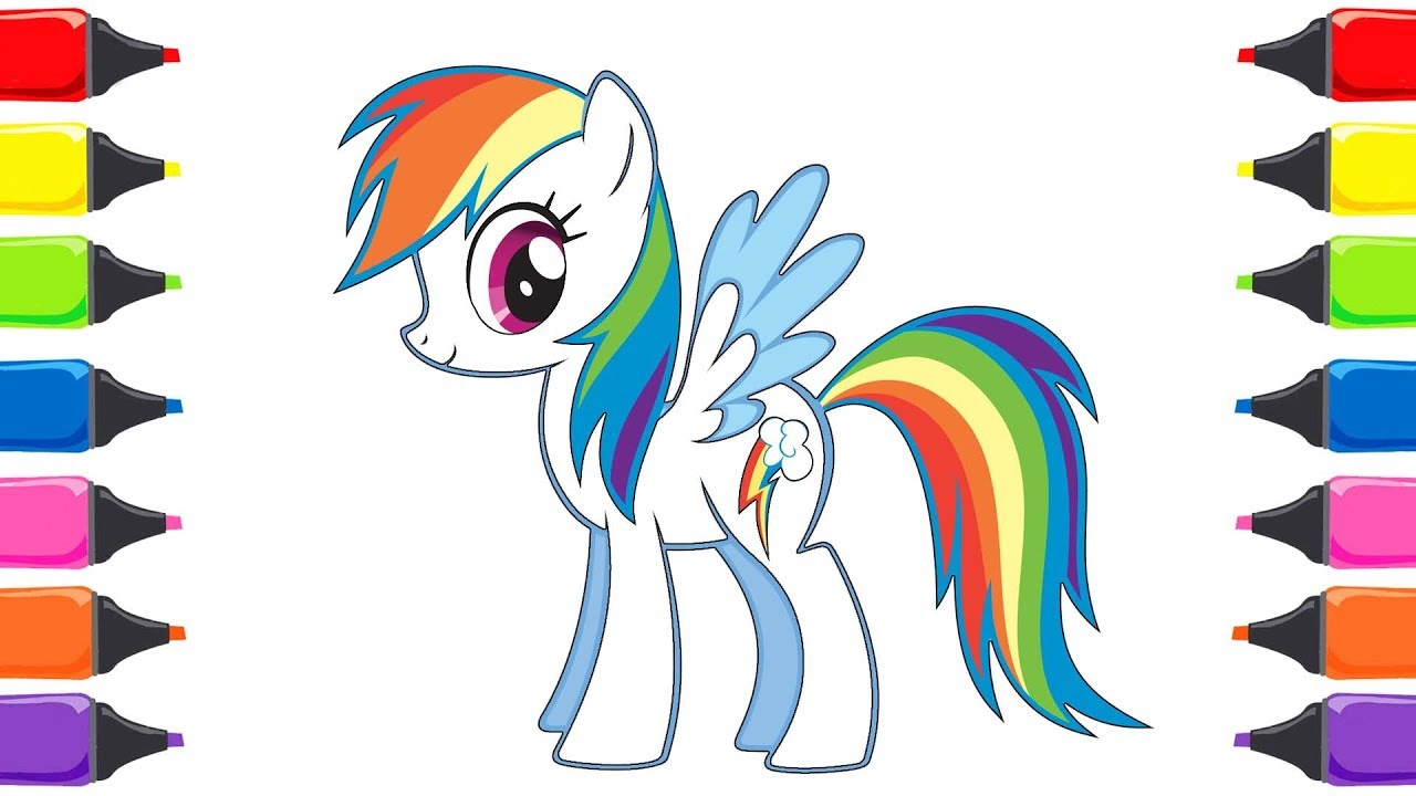 My Little Pony Rainbow Dash Boyama Renkleri Ogreniyorum Youtube