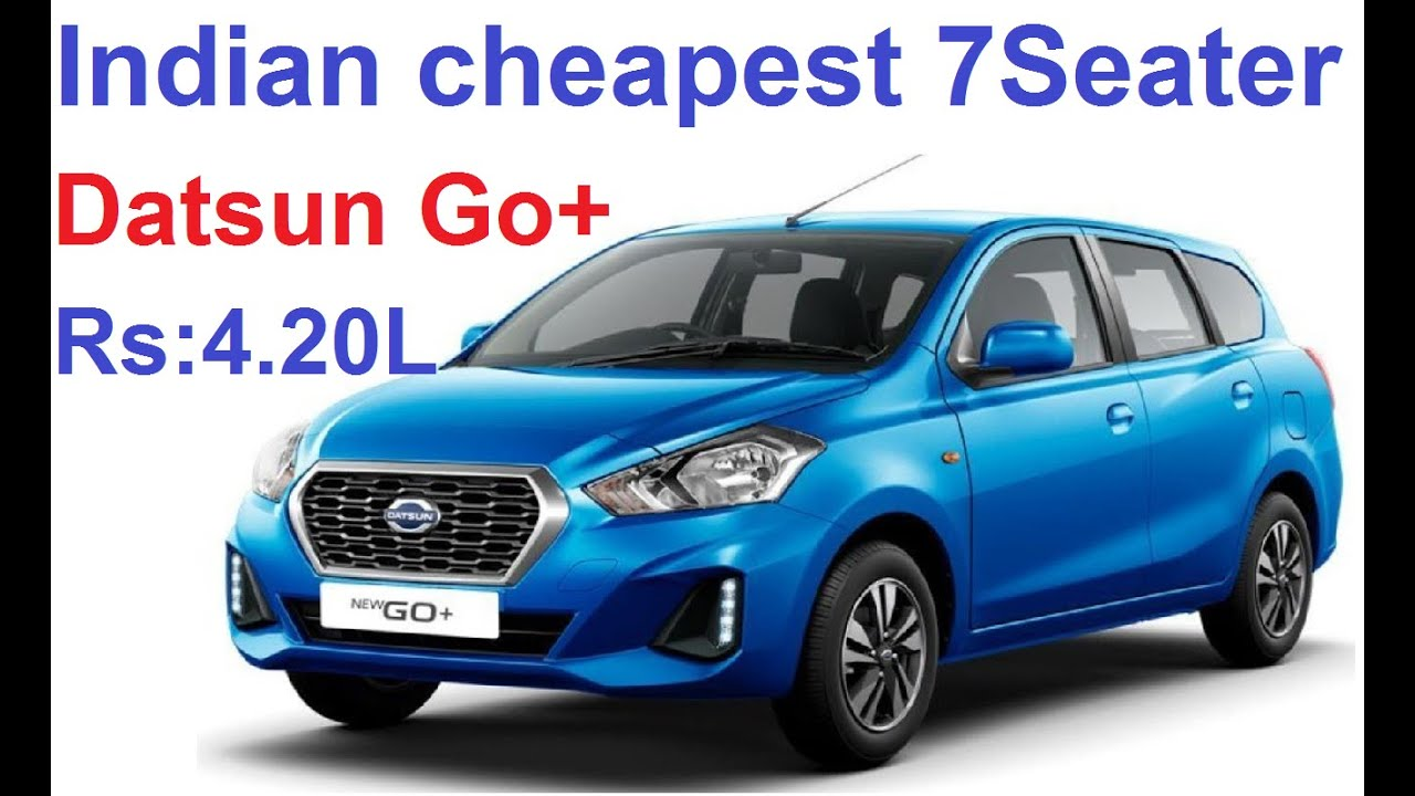 Datsun Go Plus BS6 2020 7Seater Indian cheapest car || Go ...