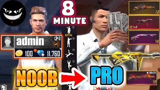 Free Fire new account to *PRO* #2 - look how it became😱🔥 Mr Rainbow