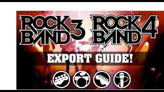 Rock Band 4 Export PSA: How To Import Rock Band 3 to Rock Band 4