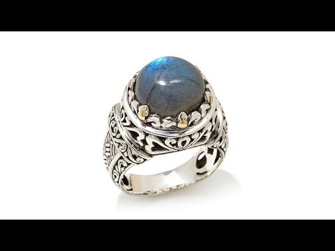 Bali Designs Labradorite 2Tone Sterling Silver Ring