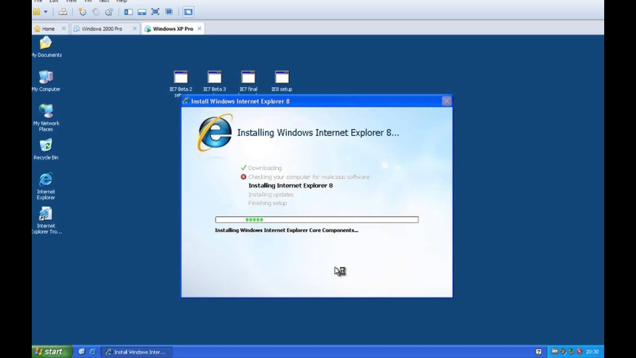 How do i install multiple versions of internet explorer on windows.