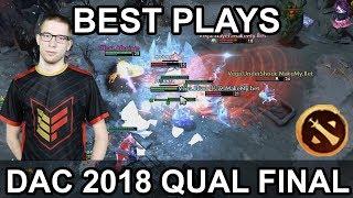 DAC 2018 Major BEST PLAYS Final DAY QUALS Highlights Dota 2 by Time 2 Dota #dota2