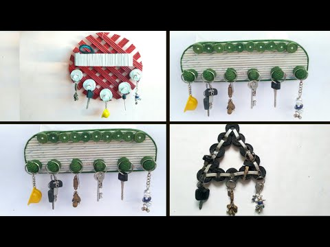 3 ideas of Newspaper key holder | key stand | how to make key holder | HMA##290