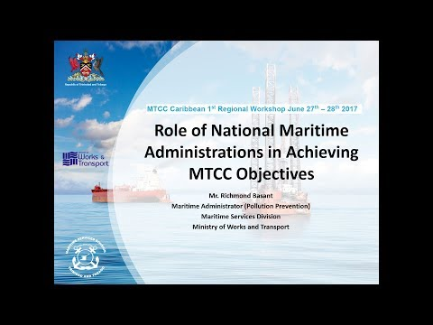 Role of National Maritime Administrations in Achieving MTCC Objectives