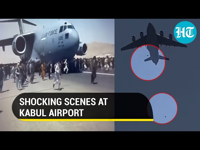 Tragedy unfolds at Kabul Airport: People fall off plane mid-air amid jostle to flee Afghanistan
