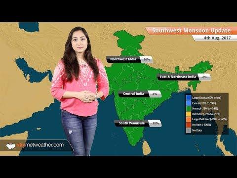 Monsoon Forecast for Aug 5, 2017: Rain in Kolkata, Uttar Pradesh, Uttarakhand