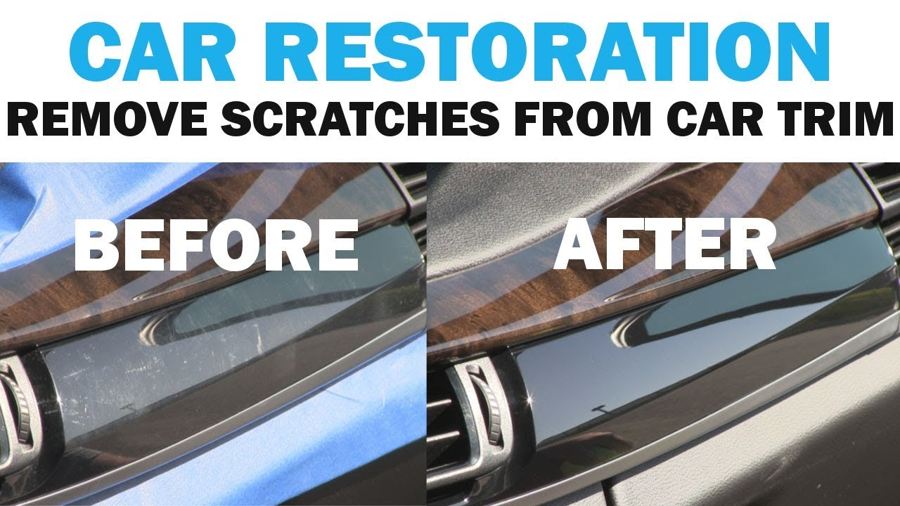 Removing The Scratches From A Luxury Car S Interior Trim Cars 101