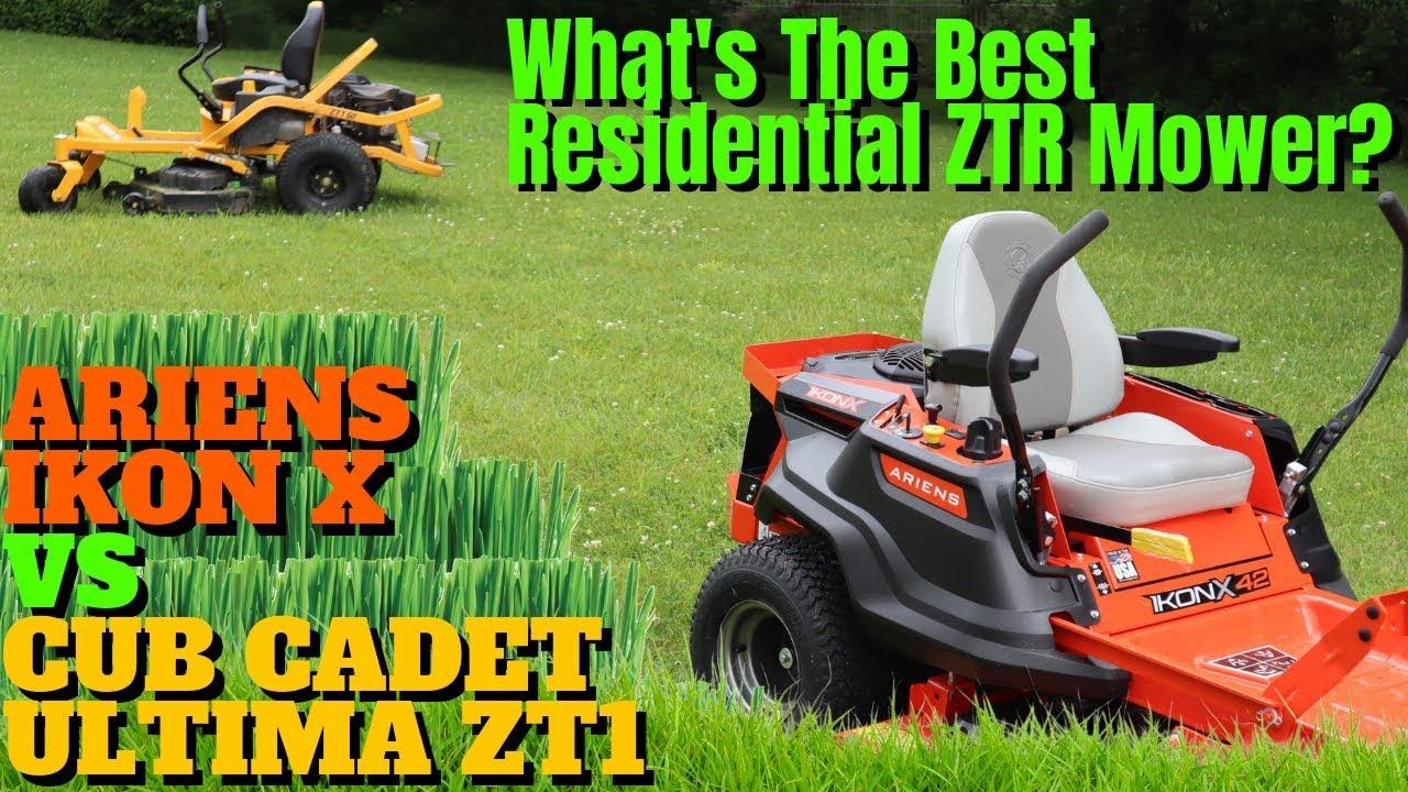 Best Zero Turn Mower 2020.Best Residential Zero Turn Lawn Mower Ariens Ikon X Vs Cub Cadet Ultima Zt1