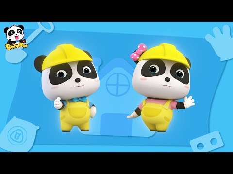 Baby Panda Architect | How to Construct a Big Building | Kid