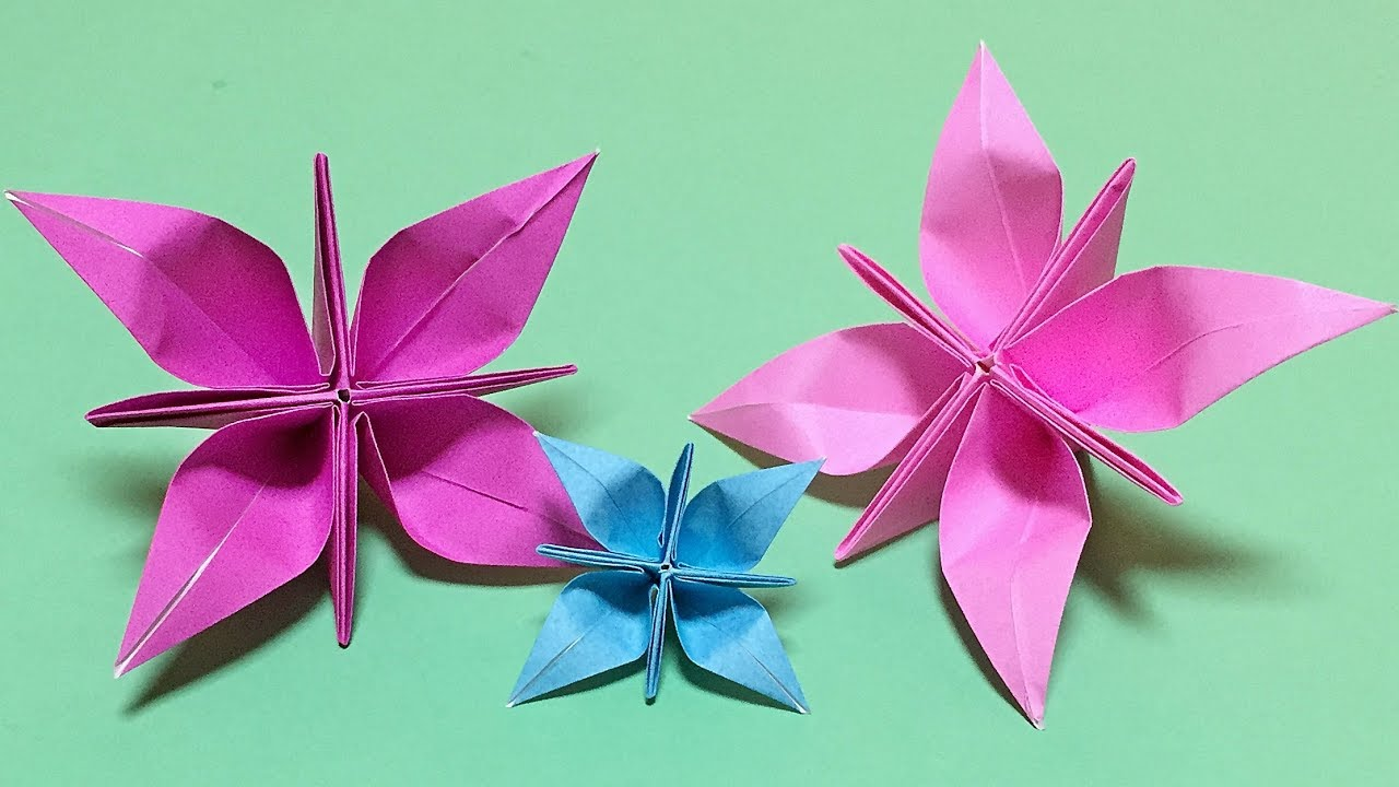 How To Make A Paper Flower Origami Flower Tutorial Very Easy But