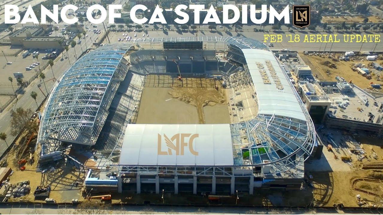Lafc Banc Of California Stadium Feb 18 Construction Drone Tour
