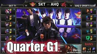 SK Telecom T1 vs ahq Game 1 | Quarter Finals LoL S5 World Championship 2015  |